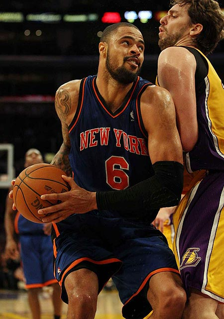 The reigning NBA defensive player of the year, Tyson Chandler currently plays for the New York Knicks. In 2011, he led the Dallas Mavericks to the franchise's first NBA championship win, and he played for Team USA when they won a gold medal at the 2010 FIBA world championship.