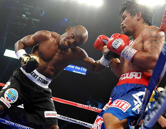 Bradley came on strong in the later rounds, winning five of the last six rounds on two scorecards and four on the third.