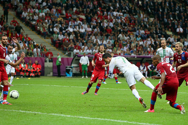 Cristiano Ronaldo continued his dominant tournament performance with a 79th minute header to send Portugal to the semifinal. Despite controlling most of the match, Portugal finally overcame some lackluster execution when Ronaldo's header skipped past Czech Republic goalie Petr Cech.  The Portuguese advance to the semifinals for the first time since they hosted the tournament in 2004.