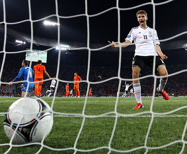 After losing to the group's lowest-ranked squad, the Netherlands could not overcome an early 2-0 deficit against tournament favorite, Germany. Two early goals from Mario Gomez put a significant dent in the Dutch's qualifying hopes, as they could not come back despite an impressive goal from Robin Van Persie. Just two years after advancing to the World Cup Final, the Dutch have zero points with one game remaining.