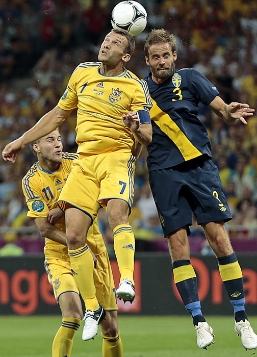 "It was the requisite ""blast from the past"" game of the tournament thus far, as Ukranian veteran Andriy Shevchenko provided ample cheering fodder for the home fans in Kiev. Considered by some pundits as a nostalgic selection for the national team, Shevchenko hardly looked 35, blasting home two headers and helping control possession for Ukraine. The nation's all-time leading goal scorer was met with raucous applause when he was subbed out in the 81st minute."