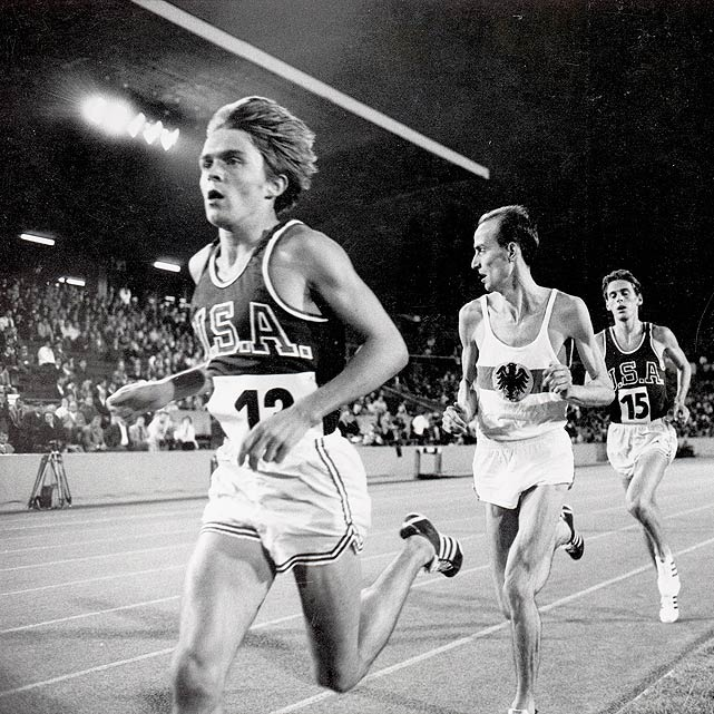 Pre, the only son of a hard-working middle-class family from Oregon, didn't start running competitively until the eighth grade. But once he started, he couldn't stop. Pre dominated domestic competition, but said his forays into international competition (like this meet in West Germany seen to the left) proved to be a learning experience.