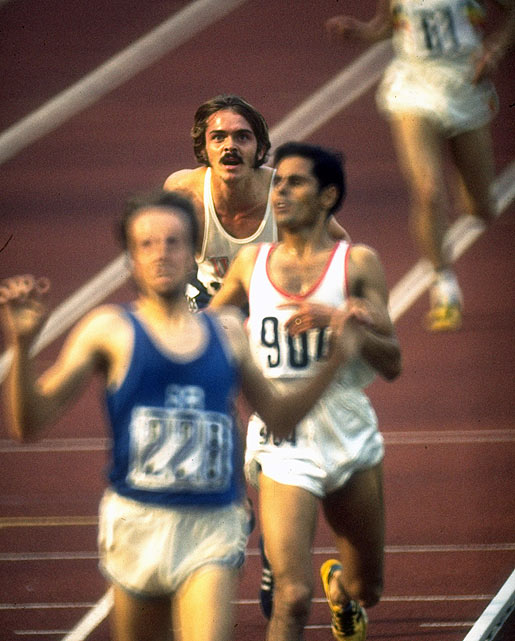 With less than 600 meters remaining in the Olympic 5,000 meters, Pre faded. He would ultimately finish fourth behind Finland's Lasse Viren, Tunisia's Mohamed Gammoudi and England's Ian Stewart, who passed Pre for the final medal less than 10 meters from the finish line. It was Pre's only Olympic appearance.