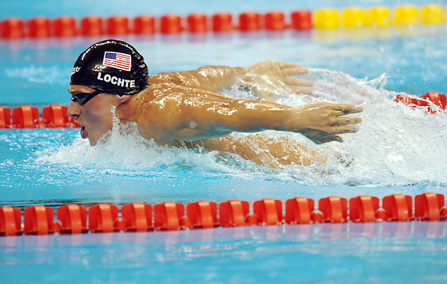 "Recently deemed ""An Olympic Sex Symbol"" by  The New York Times , Lochte is poised to take center stage this summer after a four-medal performance in 2008. The world record holder in the 200 and 400 individual medley, Lochte has entered 11 races at the trials."