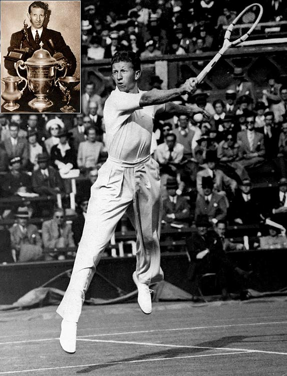 Wimbledon (1937, '38)   US Open (1937, '38)   Australian Open (1938)   French Open (1938)