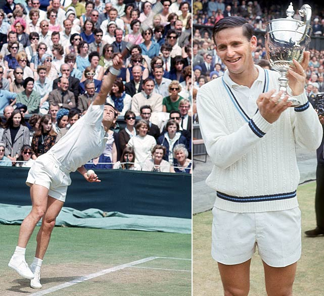 Wimbledon (1964, '65)   US Open (1961, '64)   French Open (1963, '67)   Australian Open (1961, '63, '64, '65, '66, '67)