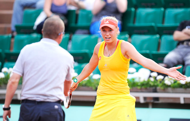 The former world No. 1 dropped to No. 9 in the rankings coming into the French Open. Wozniacki was under the radar a little more in Paris, picking up some comfortable wins in the first two rounds. But after battling back to force a second set tiebreak, she lost to Kaia Kanepi in the third round amid  controversy with the chair ump .