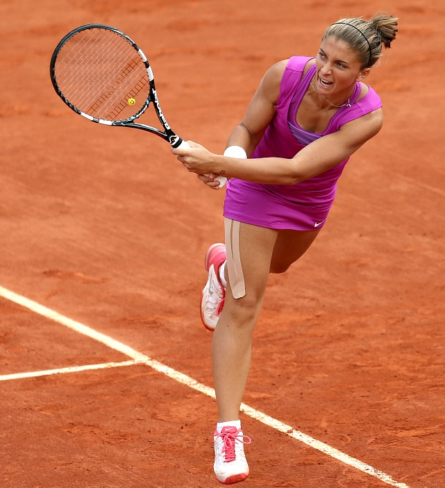 Errani will be rewarded for reaching her first career Grand Slam final by cracking the top 10 in the rankings for the first time in her career. She had trouble with Sharapova's power in the final, and couldn't get enough kick on her serve to pressure the new No. 1.