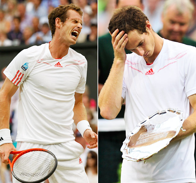 His draw opened up significantly when Rafael Nadal crashed out in the second round, and the world No. 4 took advantage to become the first British man in 74 years to reach the final at Wimbledon. But with the roof closed for rain, Federer was too good for Murray and the Scot's quest to snap the home-grown title drought ended in four sets.