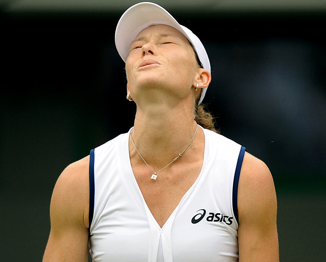 Like Wozniacki, the world's No. 5 player bowed out in the second round at the All-England Club, losing to 21-year-old Arantxa Rus of Holland in three sets.