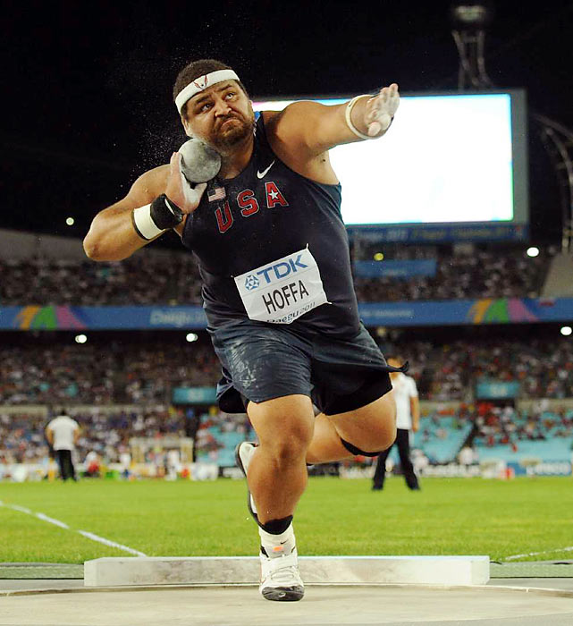A member of the last two U.S. Olympic teams, the 34-year-old shot putter is America's best chance at a medal in the event in 2012. The 5-foot-11, 315-pound Athens, Ga., native will try to increase his distance and best his seventh-place finish from Beijing in 2008.