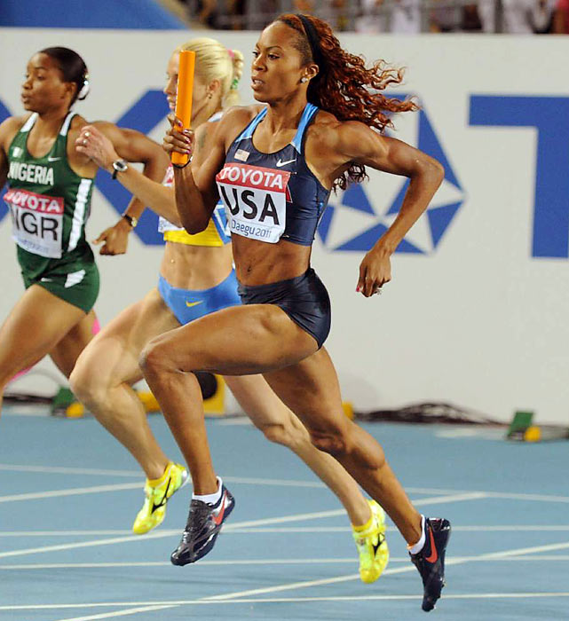 A member of the women's gold-medal 4x400-meter women's relay squad in Beijing along with Allyson Felix, the 27-year-old is also the defending bronze medalist in the 400. Jamaican-born, Richards-Ross is the American record-holder in the 400 at 48.70 seconds and has already run 2012's fastest time, clocking 49.39 at a June race in Eugene, Ore.