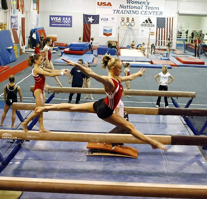 Get past the rocky bumps and turns along I-45 in south Texas and you'll soon find yourself in the middle of Sam Houston National Forest, the home of Karolyi's World of Gymnastics. That's where Olympic hopefuls drill (like 2008 Olympian Nastia Liukin, pictured) from dusk 'til dawn and turkeys and antelopes roam among the 2,000-acre ranch.
