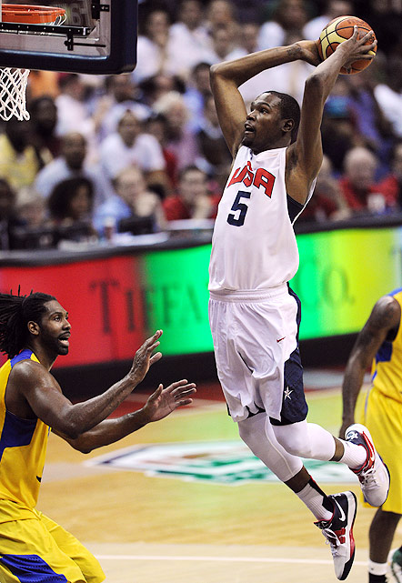The three-time defending NBA scoring champ makes his Olympic debut after competing for Team USA at the 2010 FIBA world championships. At worlds, Durant led the team in scoring (22.8 per game) as it captured its first world championship since 1994. To repeat as Olympic gold medalists and overcome a lack of size and depth in the frontcourt, Team USA will need a big performance from the 23-year-old Durant and his deadly shooting stroke.