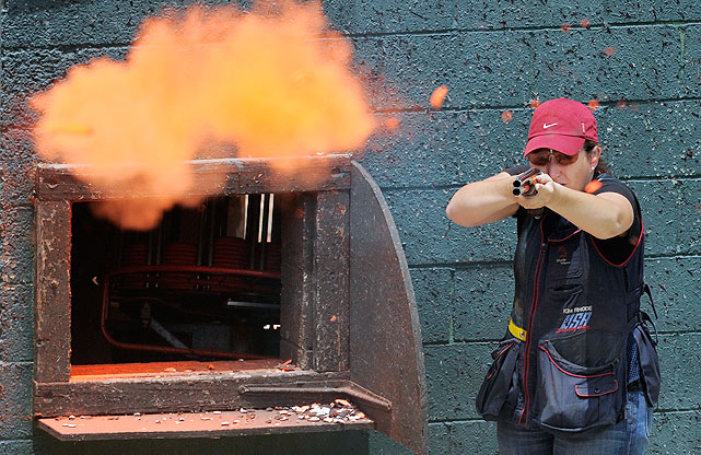 A four-time Olympic medalist, this 33-year-old trap and skeet shooter hailing from Southern California will compete in her fifth Games in 2012. Rhode previously won gold in the double trap in both the 1996 and 2004 Olympics, as well as a bronze in 2000. She also owns a silver from the skeet competition in 2008. In 1996, at 17, she also became the youngest female gold medalist in Olympic shooting history.