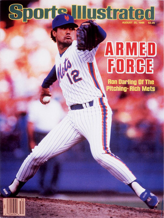Four members of New York's eventual World Series-winning team -- starting pitchers Ron Darling (pictured), Bob Ojeda and Rick Aguilera along with second baseman Tim Teufel -- were arrested on an early July morning for fighting with bouncers outside a Houston-area bar called Cooter's. One of the bouncers was also an off-duty cop and Teufel and Darling were charged with aggravated assault on a police officer. The players spent 10 hours in jail before being released after the team posted bail.