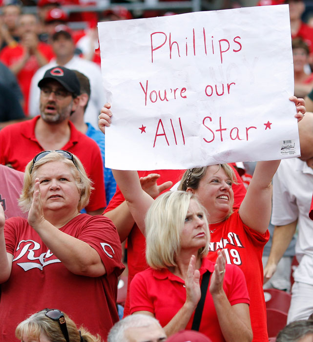 Brandon Phillips didn't make the All-Star team, but it wasn't on account of this Reds fan.