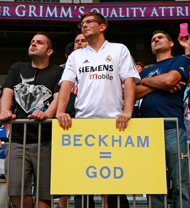 David Beckham may be God, but he wasn't good enough to make Britain's soccer team.