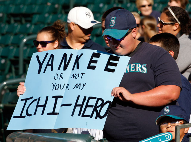 Ichiro may have been traded to the Yankees, but he's still a hero to this Mariners fan.