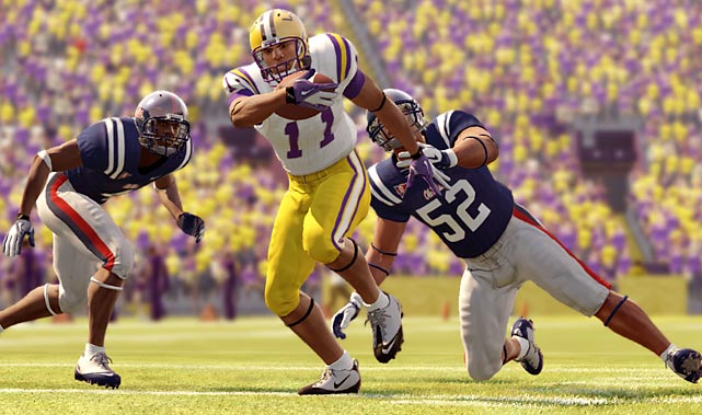 "NCAA Football 13 is, by most measures, a somewhat iterative release building on last year's substantial overhaul of this dependable franchise. This isn't criticism -- in fact, the game feels more realistic and demands more strategy than ever -- but it might be a little underwhelming to those who purchase the game year after year. The biggest functional change in the game is the passing and receiving mechanism, which requires a much more considered hand than ever before. The days of having a go-to unbeatable play (mine was a split/tight end slant pass play that worked much more often than it should) are probably over, as receivers and pass defenders now have awareness of the ball conditional with their actually turning their heads to be ready for it. It's a simple change, but it dramatically alters the rhythms of the game and makes throwing off-balance while on-the-run a much more dangerous option.   There are tons of new receiving and pitching animations and the addition of automatic quarterback dropbacks to liven things up as well. Small graphics glitches -- including some seen in years past -- pop up, but usually just in cutscenes. For the most part, the on-field action looks phenomenally realistic with smooth tackling animations and only the occasional ""Mario running"" problems with running backs. Playcalling AI is mostly solid, though the computer isn't always as adept at clock management as a human would be, and invariably will make the occasional head-scratching call.    The always fun Road to Glory RPG-style mode which lets you work your way from college to pros, has added a Matrix-style Reaction Time function that lets you slow down the action during big plays. The new Heisman Mode lets players add former winners, including Doug Flutie, Herschel Walker and Barry Sanders (with more via preorder and demo DLC), to existing teams as well as Road to Glory. NCAA 13 is a huge, well-tuned package with a ton of content here that college football fans are likely to enjoy for months to come, even if the overall effec"
