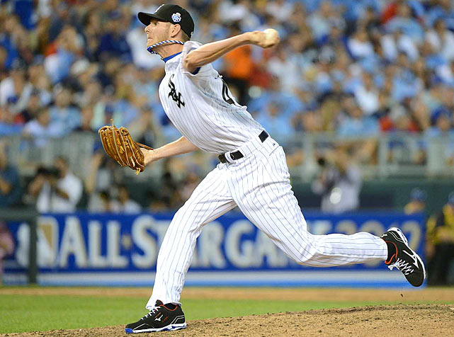 A reliever converted into a starter, Sale has helped the White Sox emerge as a surprise in the American League. Though an innings limit may shut him down earlier than expected, Sale has been spectacular. The lefty is 10-2 with a 2.19 ERA and was named to his first All-Star team in 2012.