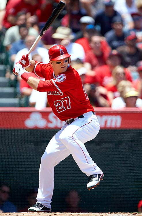 Though he struggled in his 2011 call-up, Mike Trout has emerged as arguably the top young talent in the majors, even with the strong play of 19-year-old Bryce Harper. The 20-year-old Trout leads the American League in batting average (.343) and stolen bases (26). The Angels are 41-23 since Trout entered the Angels' lineup on April 30. Trout is the current favorite for AL Rookie of the Year and could even enter the MVP discussion if he continues his torrid hitting.