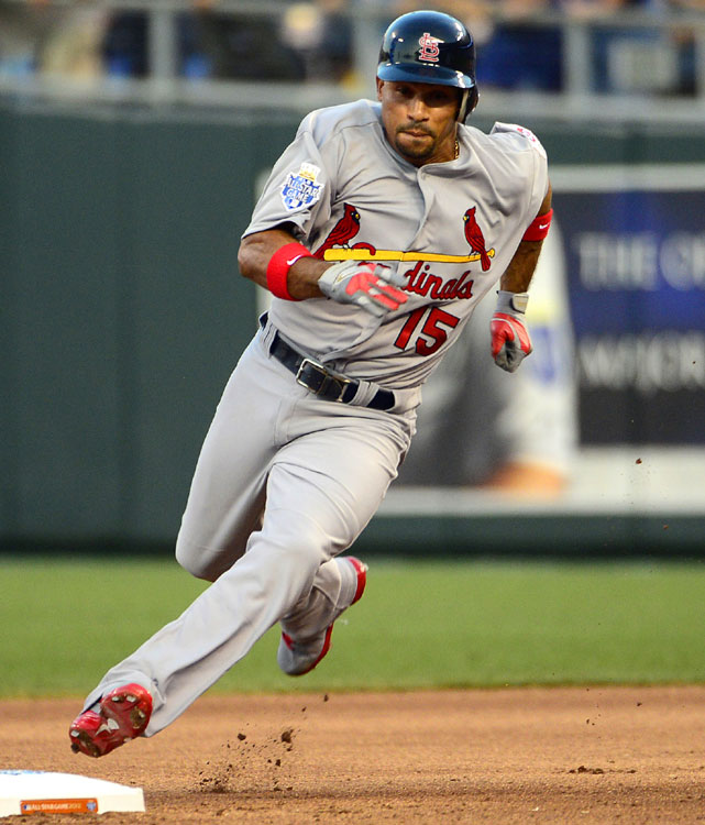 With two outs in the fourth inning, St. Louis Cardinals shortstop Rafael Furcal hit a triple. It was the third triple of the night for the National League, the first time in All-Star Game history a team has tripled three times. Furcal later scored on a base hit by his Cardinals' teammate Matt Holliday.