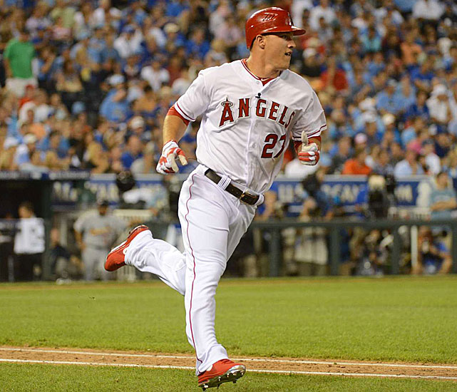 Angels rookie Mike Trout led off the sixth inning for the American League with a single and then stole second base. Trout later walked in the 8th inning. One of a record five rookies in the game, he became the third youngest player to ever get a hit in an All-Star game.