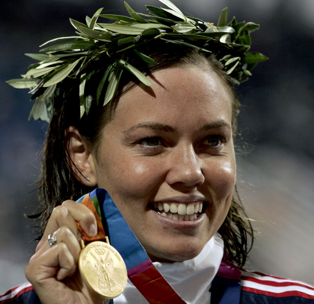 Coughlin won gold in the 100m backstroke at the Athens Olympics. She went on to defend her medal at the Beijing Olympics, becoming the first woman to defend her medal in that event.
