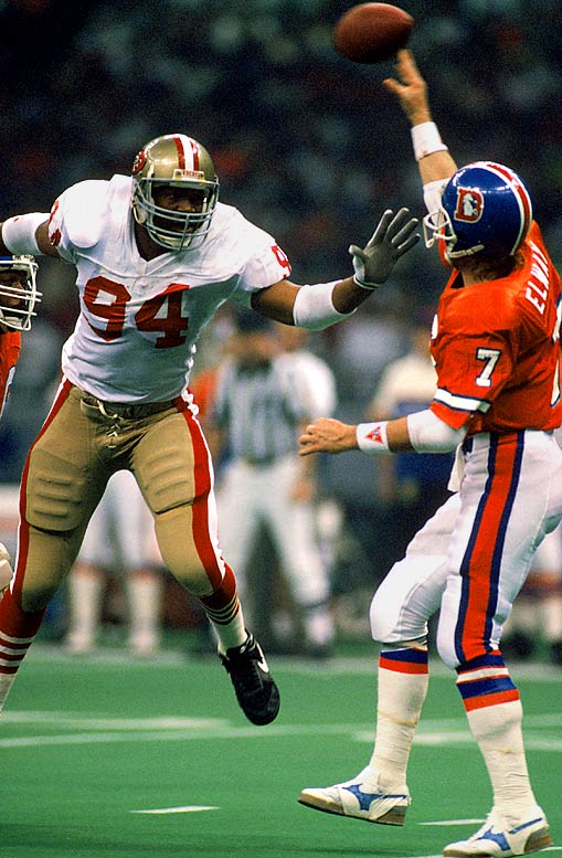 The five-time Pro Bowl pick was a pass-rush force from the linebacker and defensive end spots from 1986-99 and is the only five-time Super Bowl-winner (three with Dallas, two with San Francisco).     Runner-up:   Dana Stubblefield    Worthy of consideration:   John Abraham, Chad Brown, Joe Johnson, DeMarcus Ware