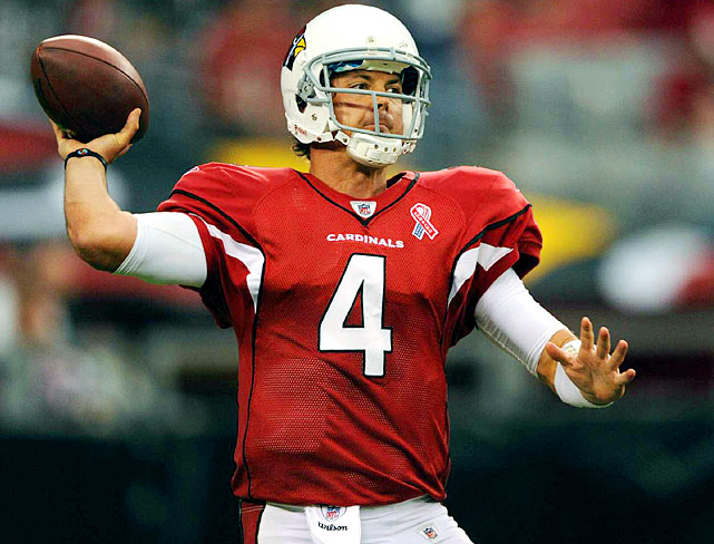 The Arizona Cardinals dealt Dominique Rodgers-Cromartie and a second-round pick to the Eagles to acquire Kevin Kolb in 2011, then gave him $21 million in guarantees as the replacement for Kurt Warner. Last season, though, Kolb threw only nine touchdowns and won two games. With numbers like that, many wonder whether he is worth the contract and starting position. John Skelton outplayed Kolb several times last season, creating a QB competition worth watching.