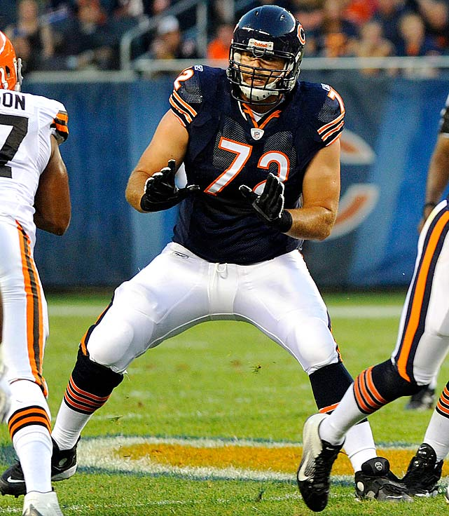 High hopes for the Bears' 2011 first-rounder were suspended when Gabe Carimi injured his knee during a Week 2 game against the Saints, knocking him out for his rookie season. He says he'll be ready for training camp which, given the Bears' weakness on the offensive line, is welcome news in Chicago.
