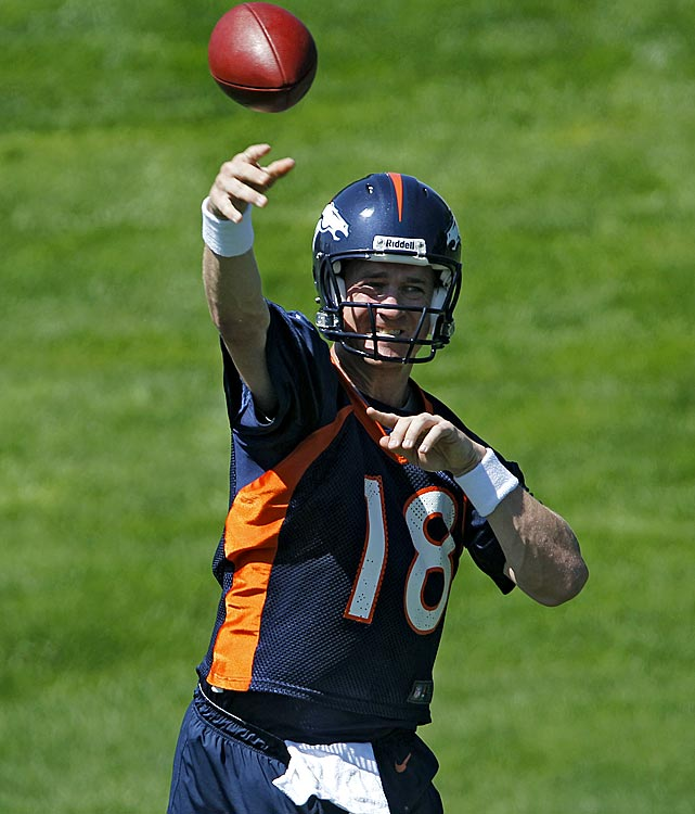 After 14 seasons with the Colts, 13 of which went by without him missing a game, a chronic neck injury ended Peyton Manning's stint in Indianapolis. A whirlwind free agency tour, with a handful of teams involved, ended with Manning joining the Broncos. His recovery from the neck fusion is being watched carefully, as everyone wonders how Manning will respond when confronted with game action again. If he's able to approximate his old self, one of the greatest quarterbacks of all-time could lead the Broncos a long way this season.