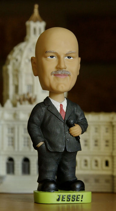There's only one man in the world who's been a professional wrestler, actor and governor. And for that, Jesse Ventura earned his own bobblehead.