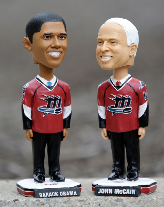 Sure, Barack Obama and John McCain have had success as politicians. If they want a career change, however, they always have a spot on the Lake Erie Monsters.