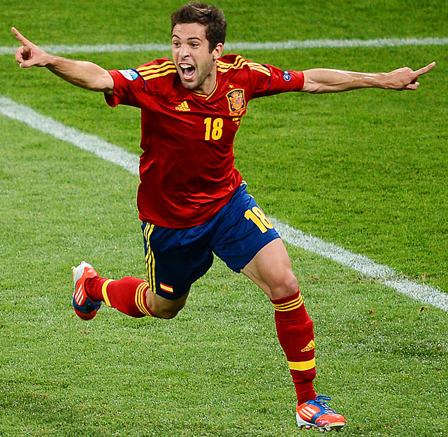 Alba, 23, is one of three players from Spain's Euro 2012-winning team who also made the Olympic team. The defender scored in Spain's 4-0 win over Italy in the Euro final.