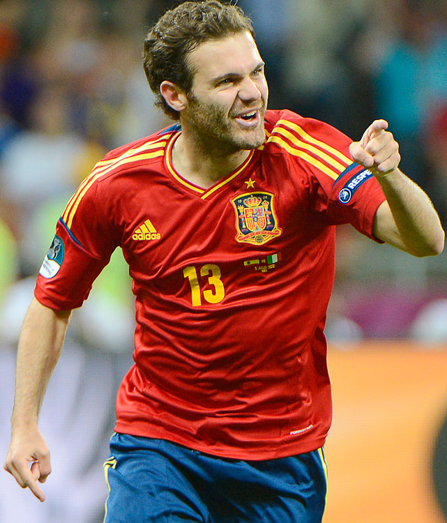 Mata and Javi Martinez are both going for an unprecedented World Cup-Euro-Olympic treble. Mata, a 24-year-old attacking midfielder, scored as a substitute in the Euro 2012 final against Italy.
