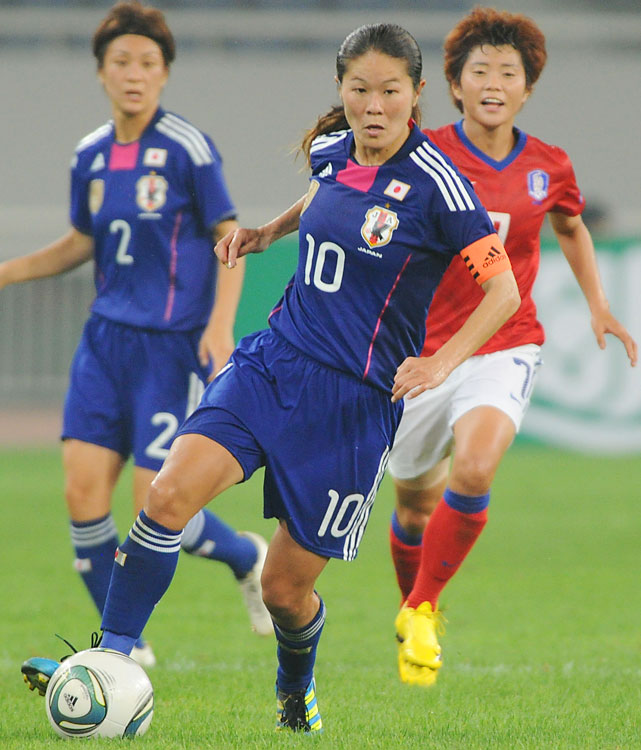Sawa, 33, is the Japanese captain and the reigning FIFA Ballon d'Or winner after leading her nation to its first World Cup title and winning the Golden Ball and Golden Boot.