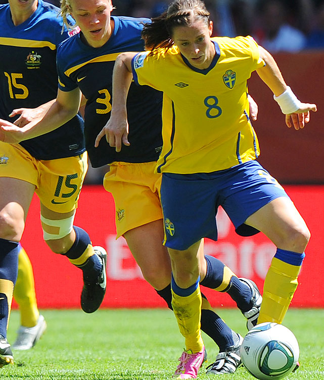 Schelin will be key if Sweden is to break up a potential U.S.-Japan rematch. The Swedes' best striker scored twice in the 2011 World Cup, where Sweden was the only team to beat the U.S. in regulation.