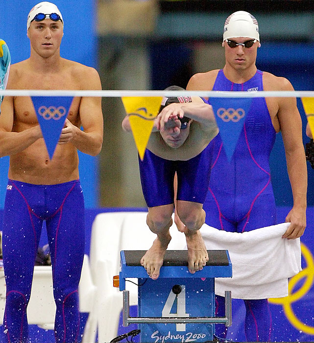 Lezak (left) was strictly a relay racer in his first Olympics in Sydney, taking silver in the famous 4x100-meter freestyle relay won by the air-guitar-playing Aussies. Lezak got a gold medal in the 4x100 medley relay for swimming in the heats. Now closing out his Olympic career, Lezak, 36, will again be limited to relay duty in London.