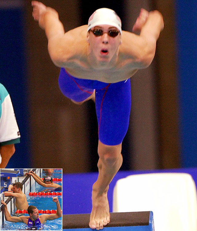 Phelps made his first Olympic team at age 15 and took fifth in the 200-meter butterfly, an event he would win easily at the 2004 and 2008 Olympics. He was the youngest U.S. swimmer at the Sydney Olympics. That was the only race in his Olympic career where he failed to medal.