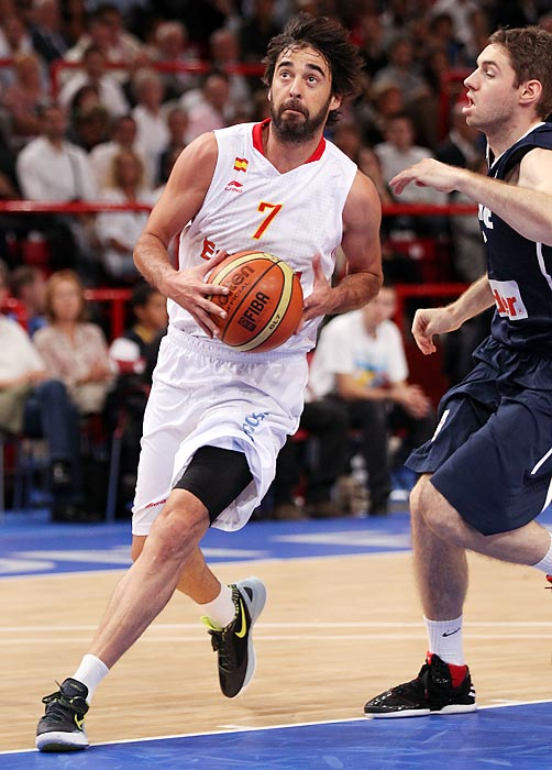 While he hasn't frequented an NBA floor since 2008, the Spanish captain can still shoot the ball without turning it over often. An NBA All-Rookie Second Team performer in his only NBA season, the FC Barcelona star will captain the backcourt with the slippery Jose Calderon and Sergio Rodriguez.