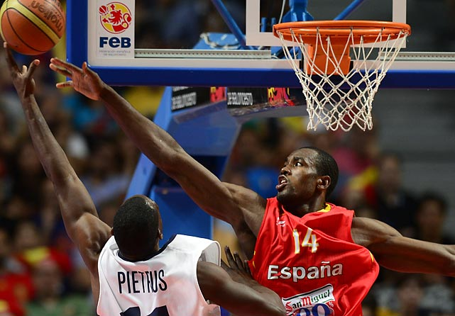 "He may not look Spanish, but ""Air Congo"" provides added frontcourt depth to a team that should control the paint in most of its games. Ibaka moved to Spain as a teenager to flee the Second Congo War, and the athletic forward-center should be able to effectively spell Marc Gasol. Ibaka made headlines when he claimed that Spain's talent matches that of the U.S."