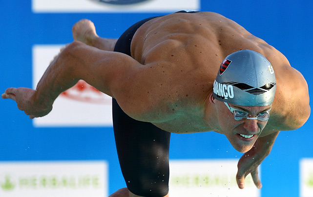 Cielo, the reigning world champion in the 50-meter butterfly and 50 freestyle, specializes in sprint events. He is the only Brazilian to ever win a swimming gold, having won the 50 free in Beijing, and he'll head to London eyeing gold in four events: 50 free, 100 free, 4x100 free relay and 4x100 medley relay.