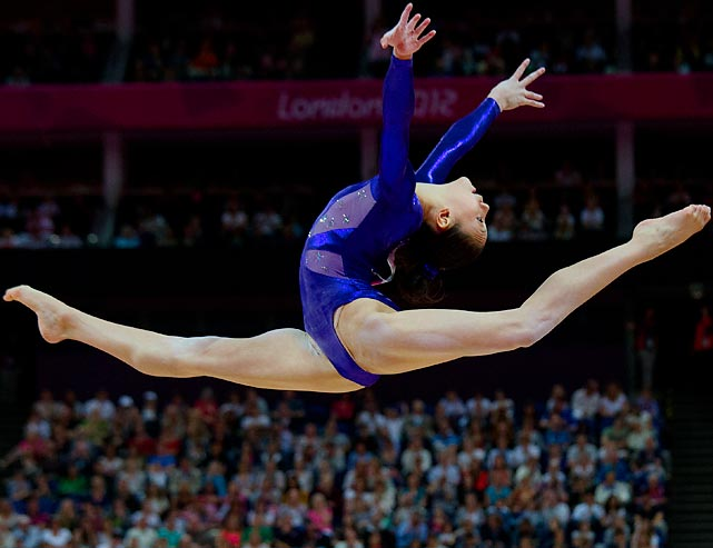 Kyla Ross of the U.S. performs during the women's qualification round.