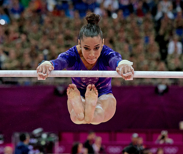 Aly Raisman was the top American qualifier for the individual final, edging out teammate and event favorite Jordyn Wieber.