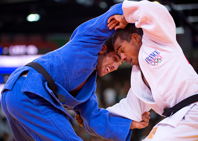 Lasha Shavdatuashvili of Georgia defeated David Larose of France in a 66kg judo match on Sunday.