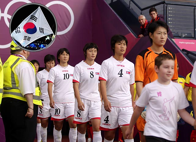The North Korean women's soccer team refused to take the field for their first game after the video board displayed the South Korean flag next to the players' names. Kickoff for their game against Colombia was delayed over an hour while organizers scrambled to fix the error; North Korea eventually won the game 2-0. Though the North Korean Olympic team accepted repeated apologies, North Korea coach Ui Gun-sin expressed significant displeasure over the incident, creating notable discomfort before the Opening Ceremonies.