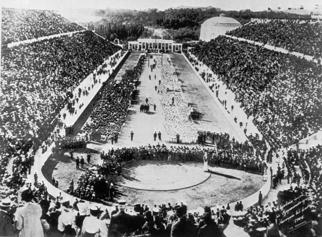 On Friday, the 2012 Summer Olympics will officially kick off with the Opening Ceremonies. Among the rumored participants are Muhammad Ali, David Beckham and Paul McCartney. In honor of this event, here's a brief history of Opening Ceremonies, starting with the first Olympic Games in 1896.