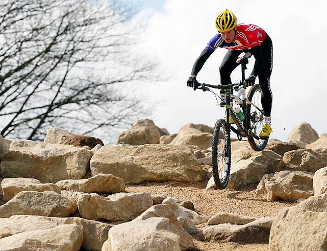 In Essex, the temporary mountain bike course sits within a 550-acre site featuring grassland and woodland. The nearby ruins of the 700-year-old Hadleigh Castle adds some visual intrigue to the location, chosen largely because the varying gradients add in technical difficulties for the competitors.